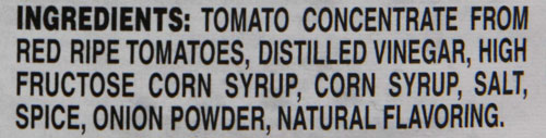 condiments ketchup ingredients